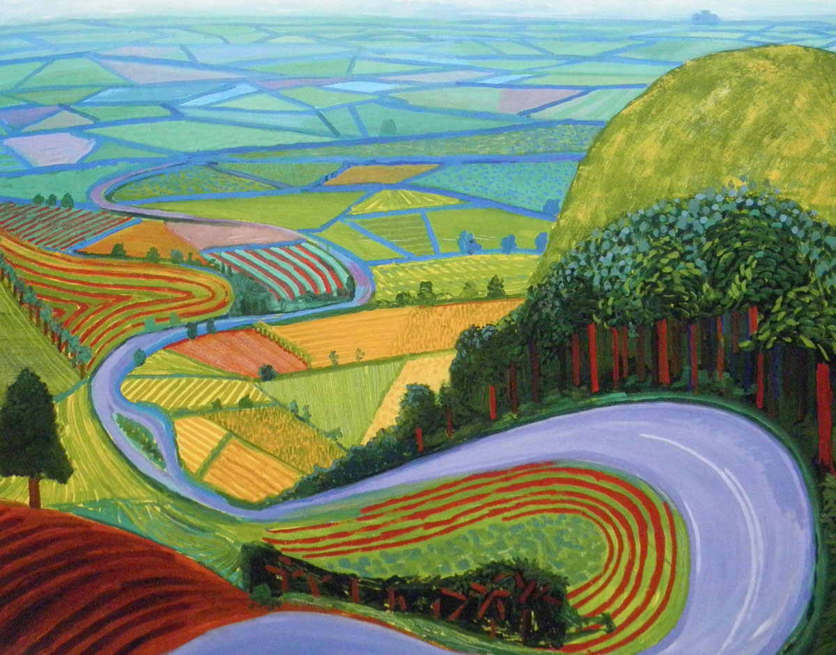 david hockney the bigger picture and the aesthetics of